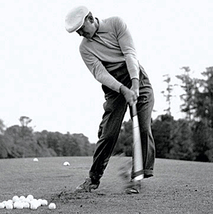 Ben Hogan - digging the earth